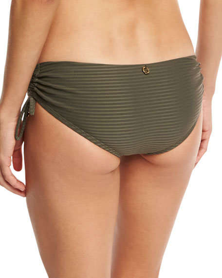 Every Day in Fashion Ruched Swim Bottom, Gray