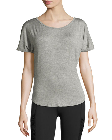 Beyond Yoga Out of Slink Cowl-Back Dolman Athletic