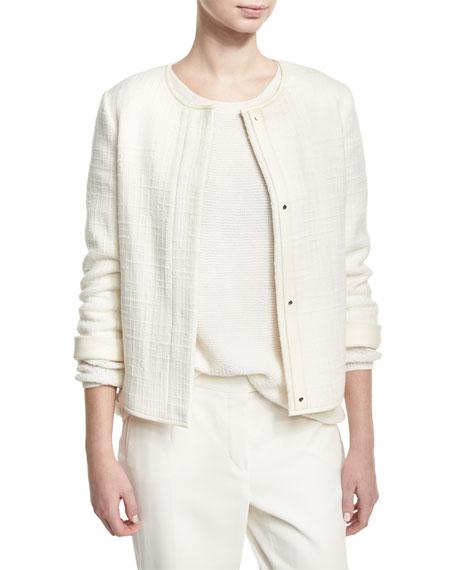 Edison Textured Cashmere Jacket