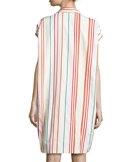 April Santa Cruz Striped Shirtdress