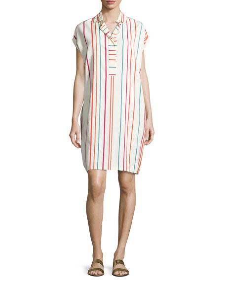 Loro Piana April Santa Cruz Striped Shirtdress