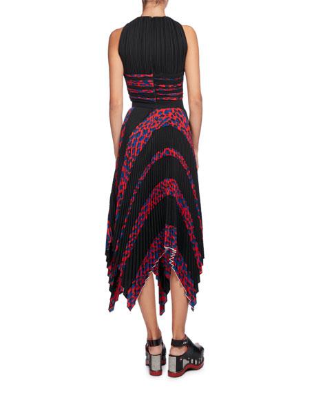 Leopard-Print Sleeveless Cutout Dress