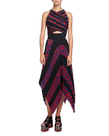 Proenza Schouler Leopard-Print Sleeveless Cutout Dress
