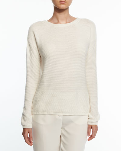 Scollo Ampio Manarola Sweater, White