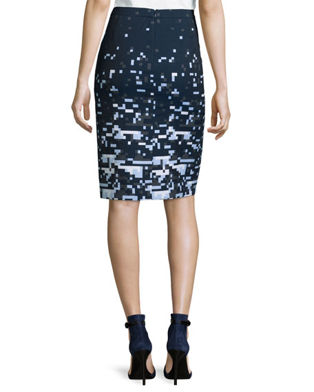 Pixelated Pencil Skirt