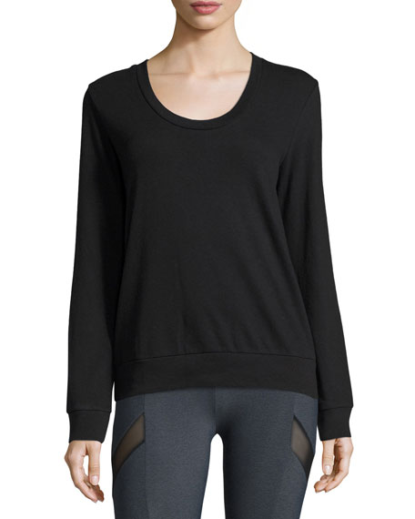 Lanston Diamond-Back Layered Athletic Pullover, Black