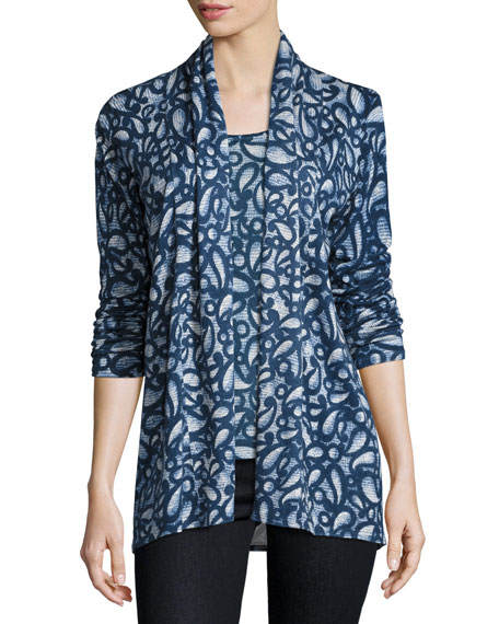 Neiman Marcus Cashmere Collection Superfine Paisley-Print