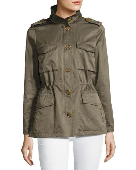 Hanni B Hooded Safari Jacket, Green