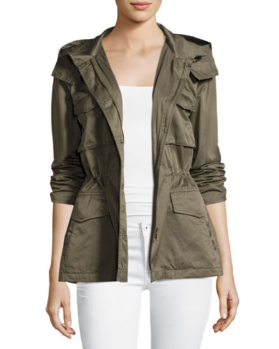 Hanni B Hooded Safari Jacket, Green