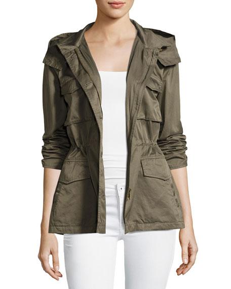 Joie Hanni B Hooded Safari Jacket, Green