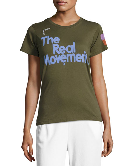 FREECITY The Real Movement Short-Sleeve T-Shirt, Green