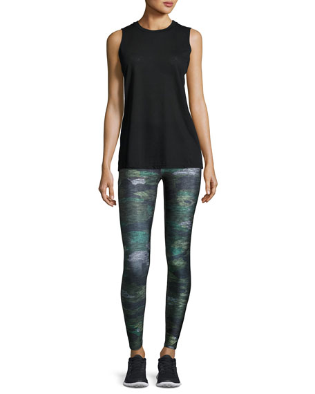 Tall Band Heathered Camo Performance Leggings, Multicolor Pattern