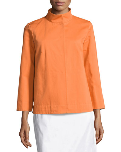 Octavia Ottoman Vanna Swing Jacket, Dark Orange
