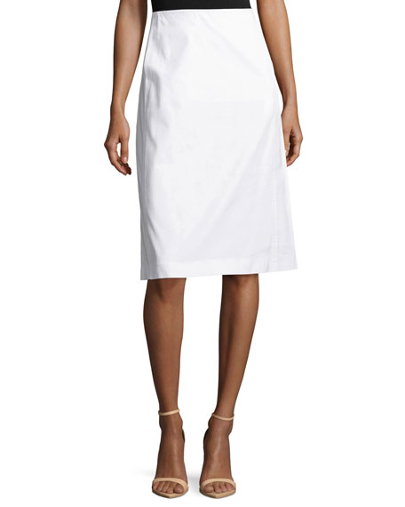 Lafayette 148 New York Coralyn Stretch-Canvas A-Line Skirt,