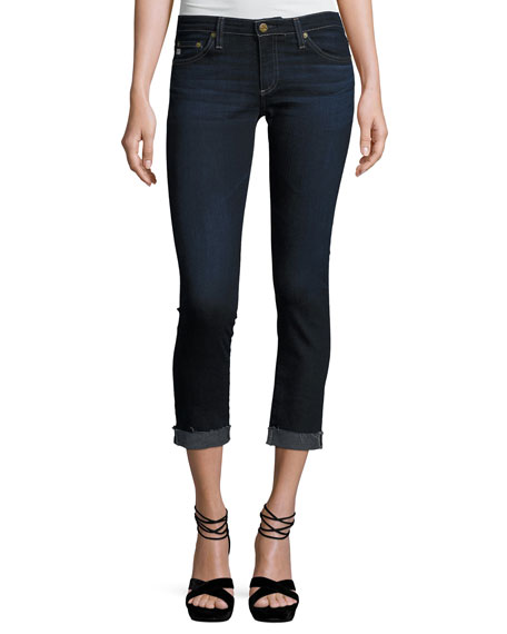 AG The Silt Roll-Up Cropped Cigarette Jeans, 4