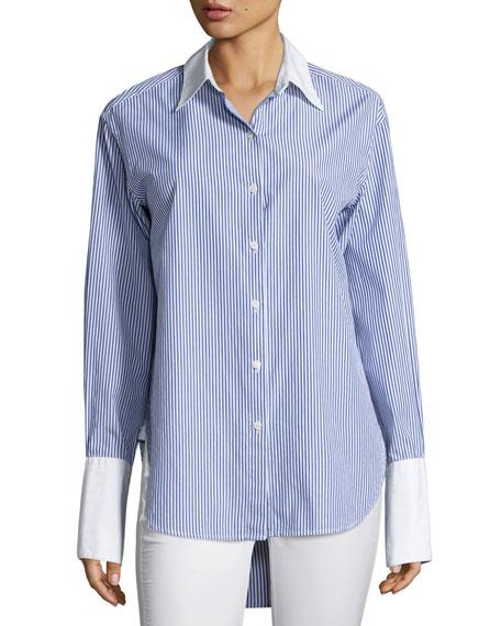 Essex Striped Shirt with Contrast Trim