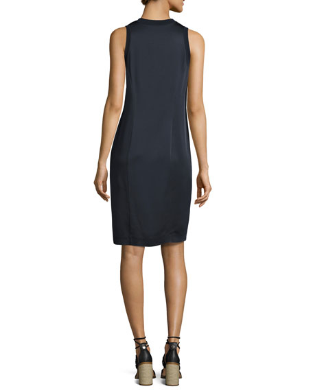 Hart Two-Tone Sleeveless Shift Dress, Navy
