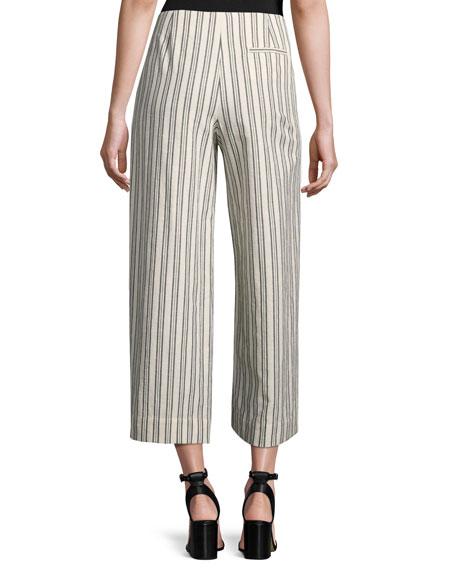 Morton Striped Cropped Wide-Leg Pants, Multi