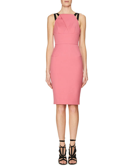 Roland Mouret Strappy Keyhole Sheath Dress, Gossip Dar