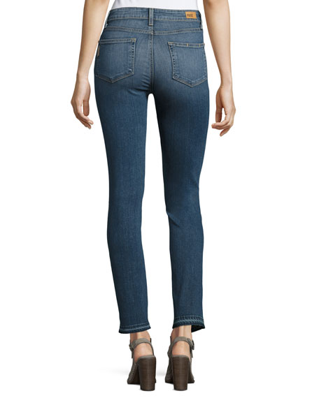 Hoxton Ankle Peg Jeans with Folded Undone Hem, Lexi Destructed
