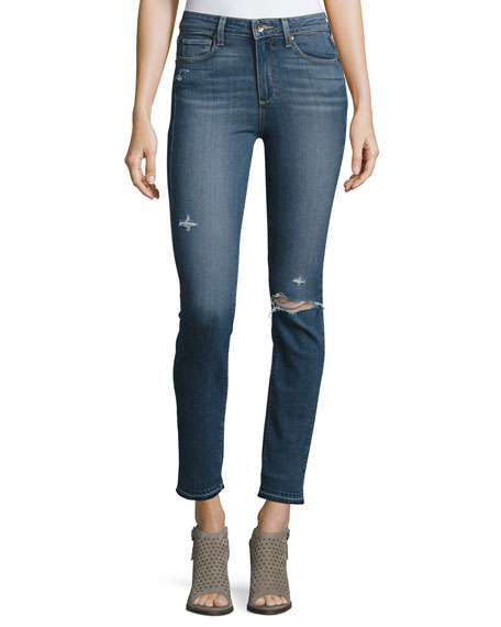 PAIGE Hoxton Ankle Peg Jeans with Folded Undone