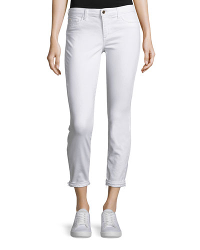 The Markie Cropped Skinny Jeans with Released Hem, Hennie