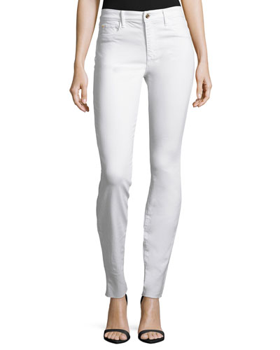 The Charlie Skinny Jeans with Raw Hem, Hennie
