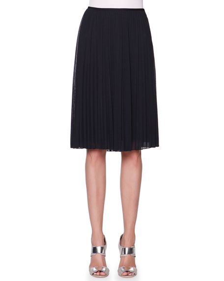 Giorgio Armani Full Plisse Crepe Skirt