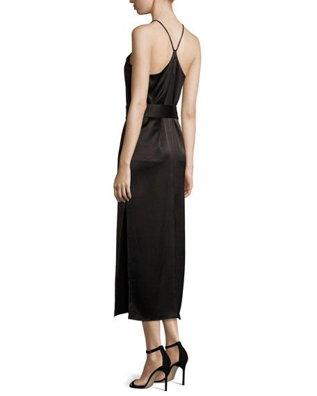 Racerback Satin Slip Dress