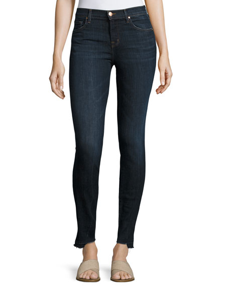 J Brand 811 Mid-Rise Skinny Jeans with Step