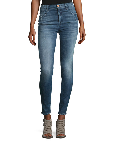 J Brand Carolina Super High-Rise Skinny Jeans, Indigo