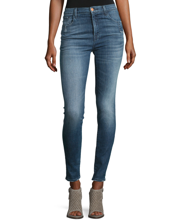 2a8308333e79c J Brand Carolina Super High-Rise Skinny Jeans