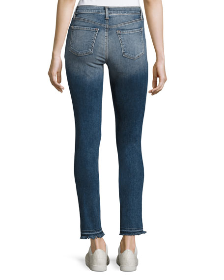 J Brand 811 Mid-Rise Skinny Patchwork Jeans, Reunion