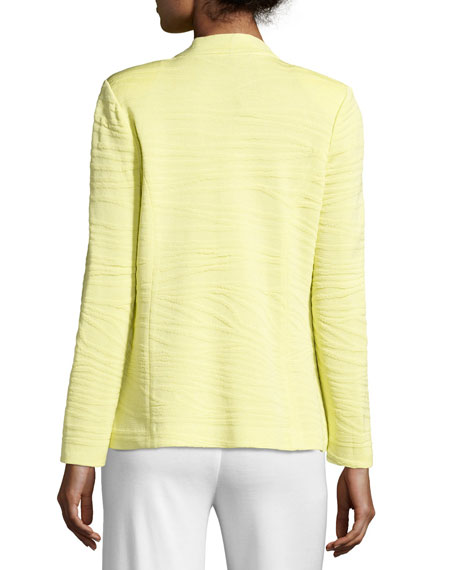Textured One-Button Jacket, Daiquiri Green, Plus Size