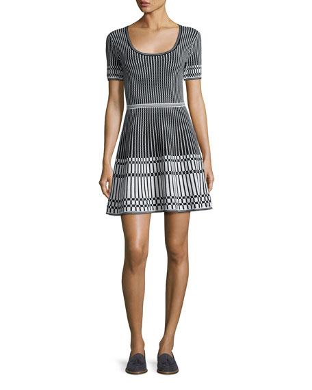 Diane von Furstenberg Short-Sleeve Knit Fit & Flare