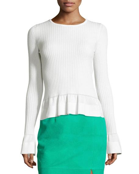 Diane von Furstenberg Suede Pencil Skirt & Peplum