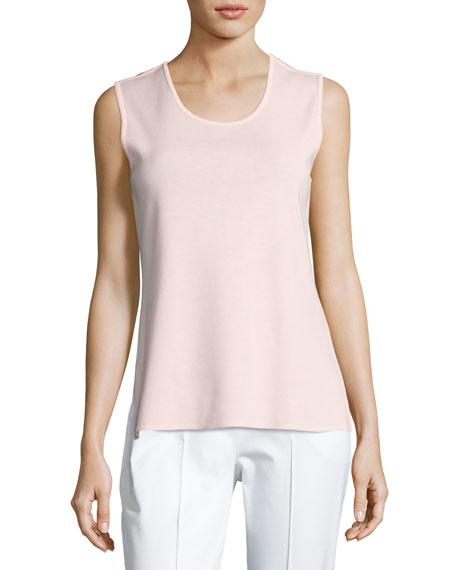Scoop-Neck Tank Top, Pink, Plus Size