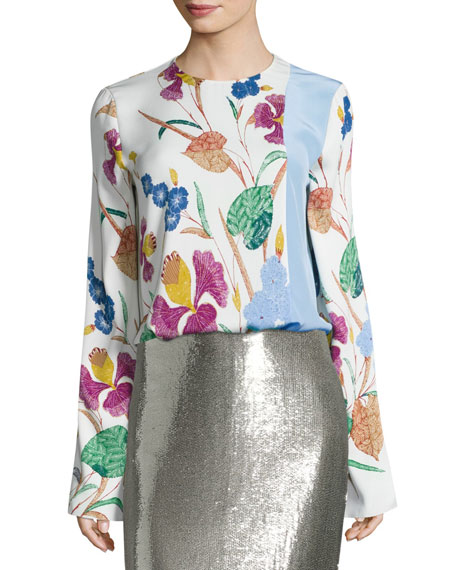 Diane von Furstenberg Crepe Blouse & Pencil Skirt