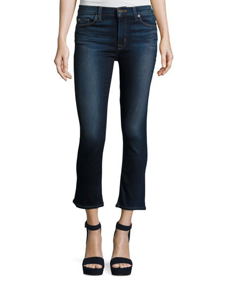 Harper Cropped Kick-Flare Jeans, Corps