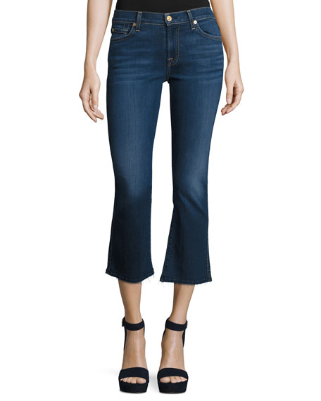 7 For All Mankind New Luxe Cropped Boot-Cut