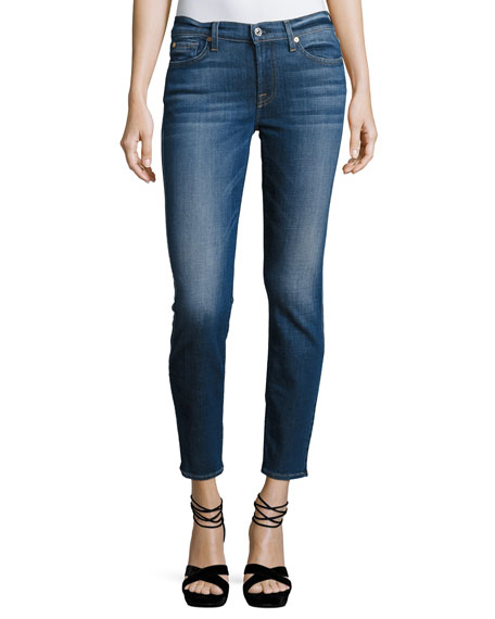 7 For All Mankind Roxanne Ankle Skinny Jeans,