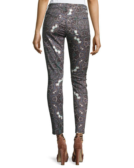 The Ankle Skinny Jeans, Swan River Paisley