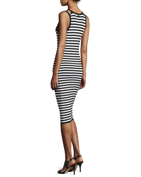 Striped Tank Dress, New Navy