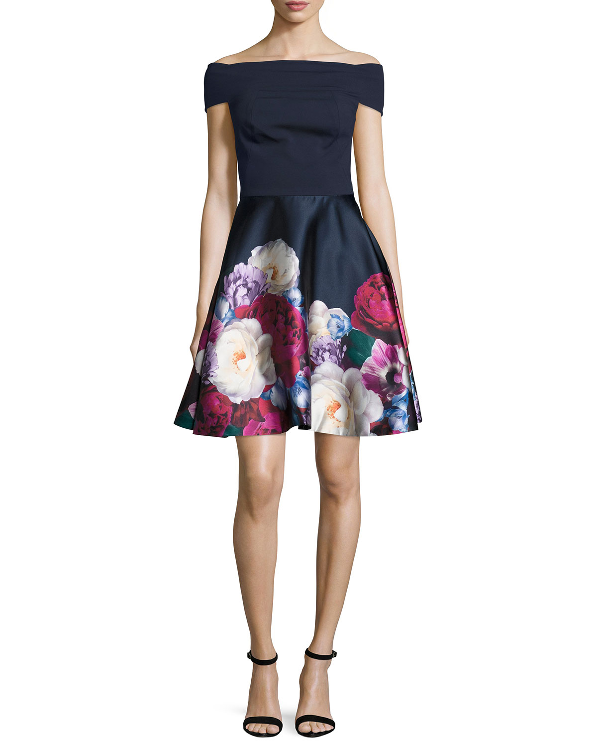 e8f16233b Ted Baker LondonNersi Blushing Bouquet Floral-Print Off-the-Shoulder Bardot  Dress