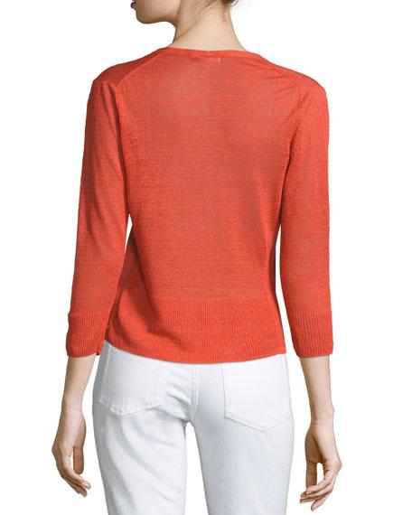 4-Way 3/4-Sleeve Cardigan, Plus Size