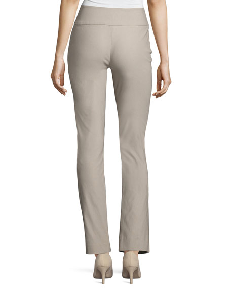 Wonderstretch Straight-Leg Pants, Light Beige
