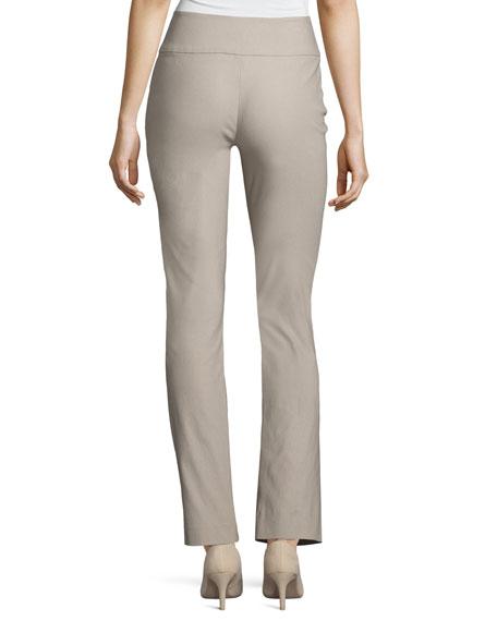 Wonderstretch Straight-Leg Pants, Light Beige, Plus Size