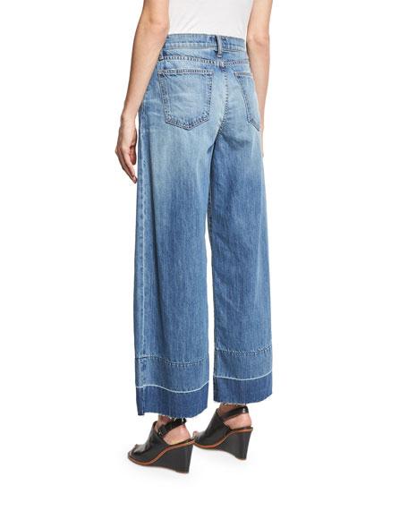 The Wide Leg Crop Jeans w/Released Hem, Old Soul