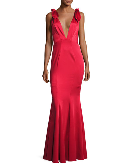 ZAC Zac Posen Katerina Sleeveless Satin Mermaid Gown,