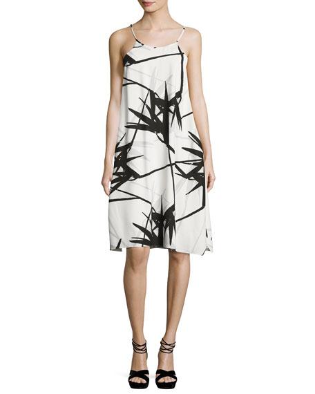 Sleeveless Floral-Print Flowy Cami Dress, Multi